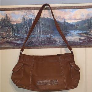 Leather Fossil Shoulder Bag